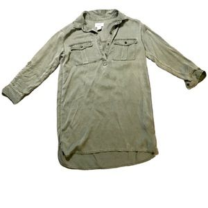 Old Navy Women's S Olive Green Button-Front Top